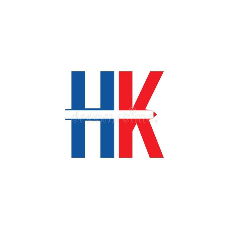 HK Logo Vector Template Design Illustration royalty free illustration