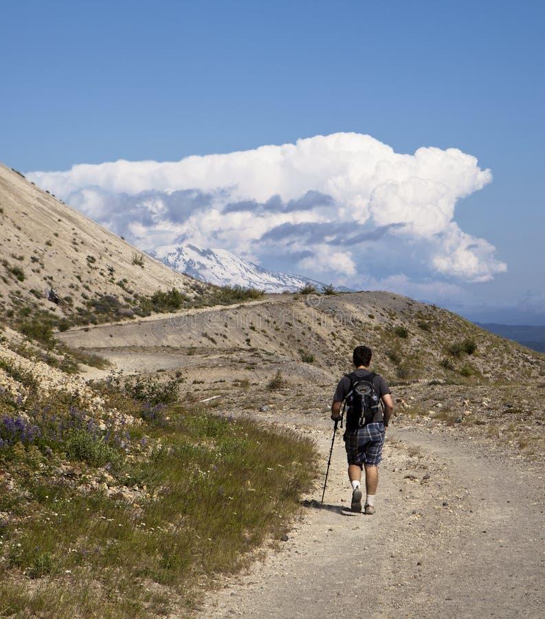 Hking para Mt. Adams fotografia de stock royalty free