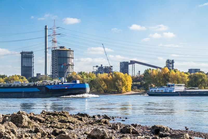 Download HKM Producing Steel Close To The River Rhine Editorial Stock Image - Image: 83706449