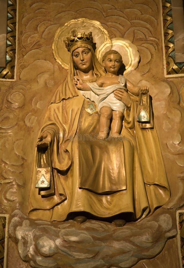 Hl. Mary de Barcelona imagens de stock