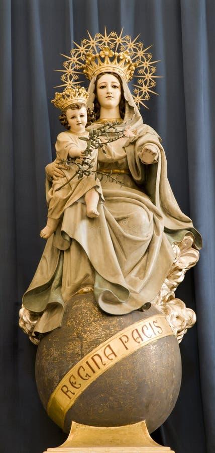 Hl. Mary van de kerk van Wenen stock fotografie