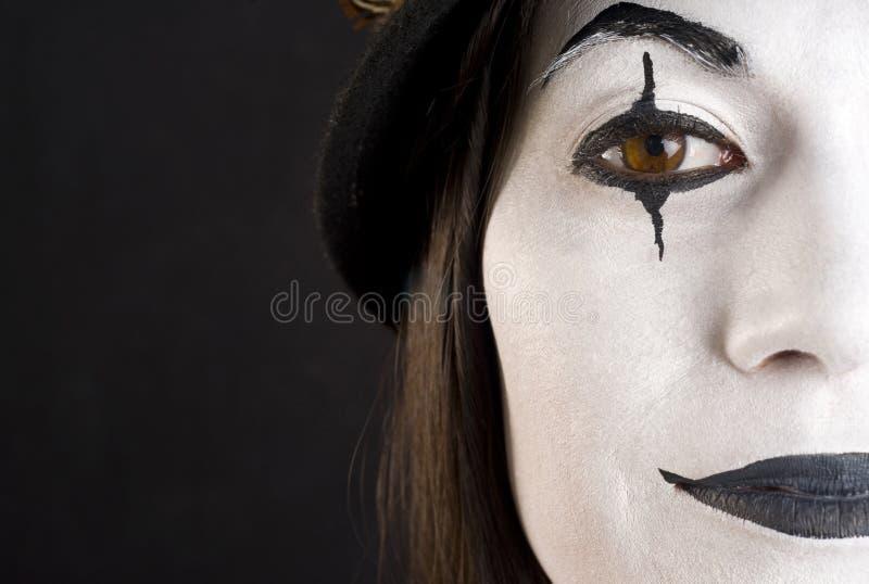 Hlaf een Gezicht van de Clown stock fotografie
