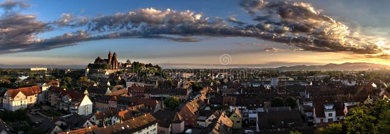 Hling het Landschapsstad Stadt Rijn Breisach am Rijn van Duitsland Mà ¼ nster Deutschland Frà ¼ royalty-vrije stock afbeeldingen