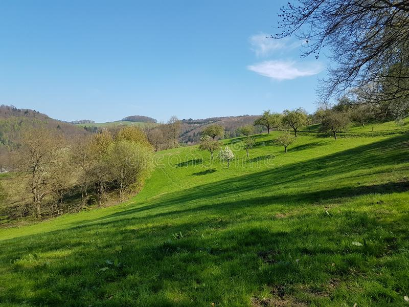 hling Landschaft im FrÃ的¼ 免版税库存图片