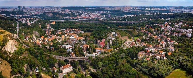 Hlubocepy, distrito en Praga imagen de archivo libre de regalías