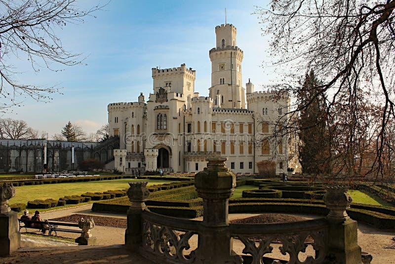 Hlubokà ¡ nad Vltavou kasztel w republika czech obrazy royalty free
