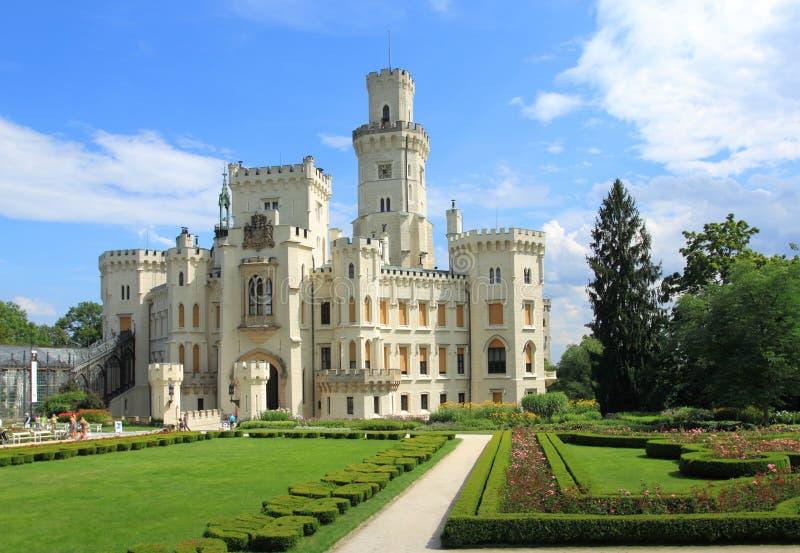 Hluboka城堡 免版税库存照片