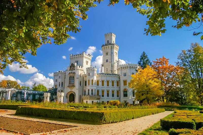 Hluboka Castle in Czech Republic stock image