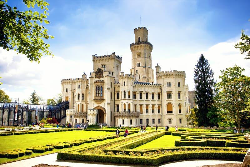 Hluboka nad Vltavou castle royalty free stock images