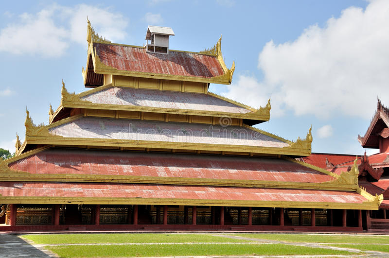 The Hluttaw in Mandalay Palace. The Mandalay Palace, located in Mandalay, Myanmar, is the last royal palace of the last Burmese monarchy royalty free stock image