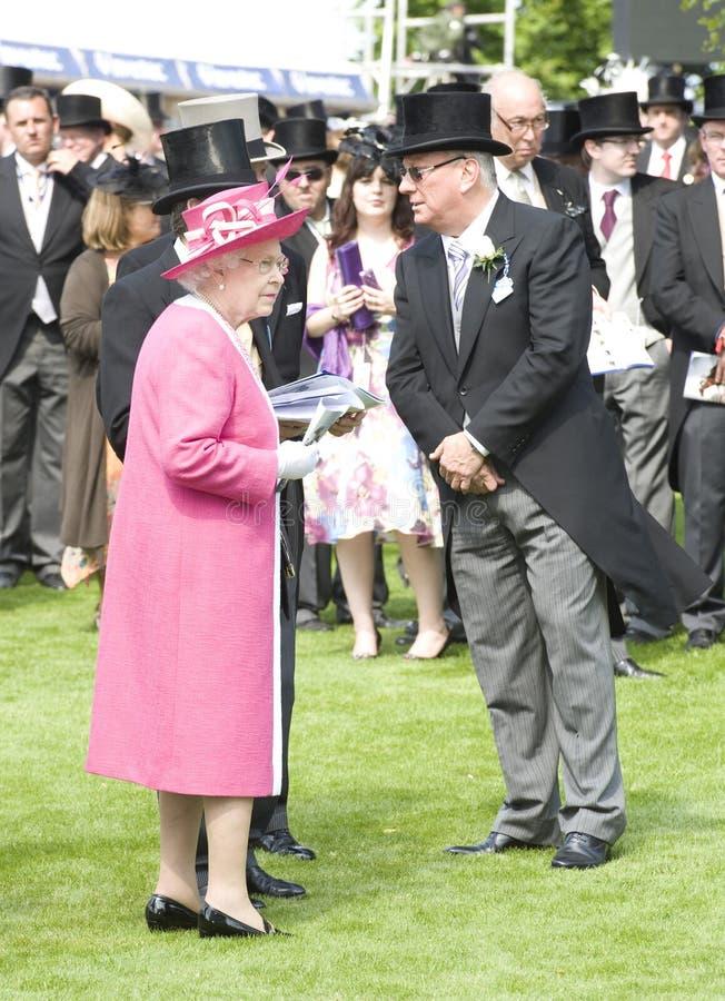 HM Królowa Elżbieta II fotografia royalty free