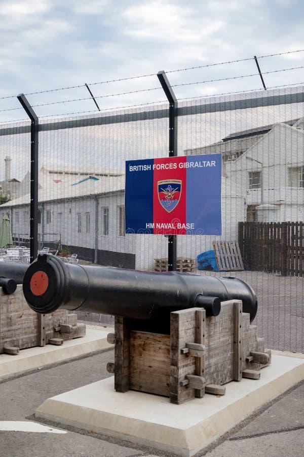 HM Naval Base de Gibraltar de las fuerzas de británicos fotos de archivo