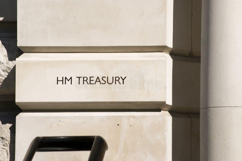 HM Treasury London royalty free stock image