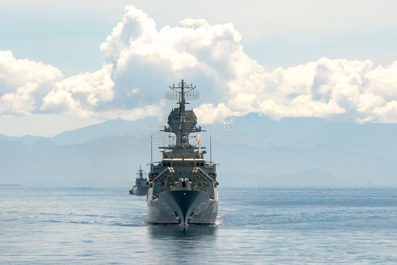 HMAS Anzac FFH 150, frégate de classe d'ANZAC de marine australienne royale images stock