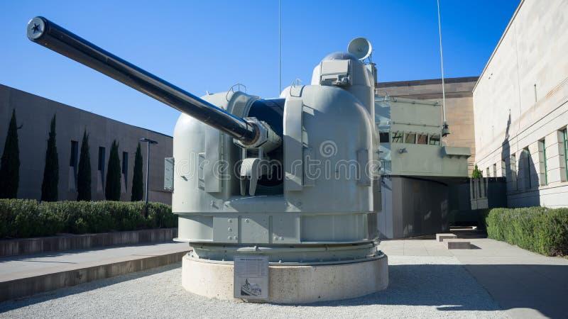 The HMAS Brisbane Gun mount stock photos