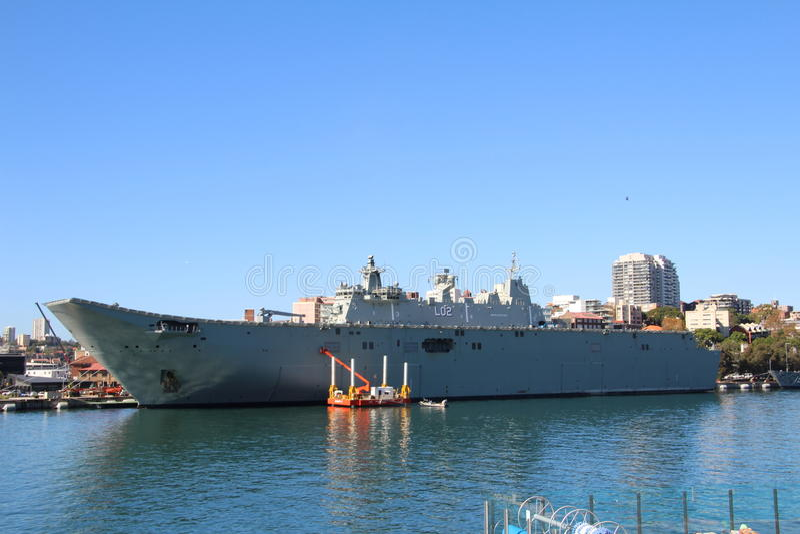 HMAS CANBERRA immagini stock