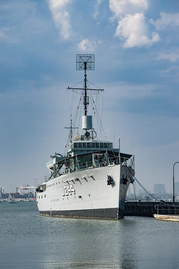 HMAS Castlemaine lizenzfreie stockfotografie