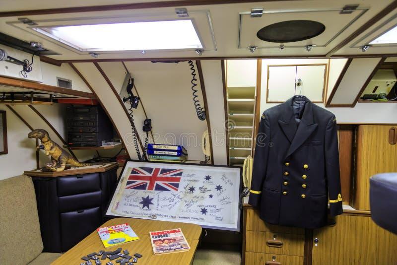 Interior of the Royal Australian Navy submarine HMAS `Onslow` royalty free stock images