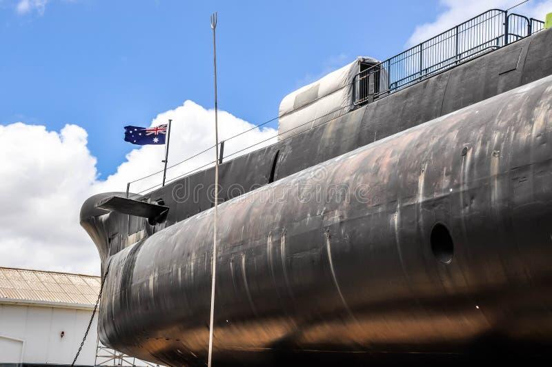 HMAS-UGNAR: Oberon gruppubåt royaltyfri bild
