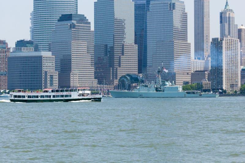 HMCS Athabaskan alla settimana della flotta fotografia stock libera da diritti