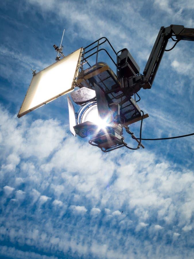 HMI-dagsljusprojektor som hänger II arkivbild