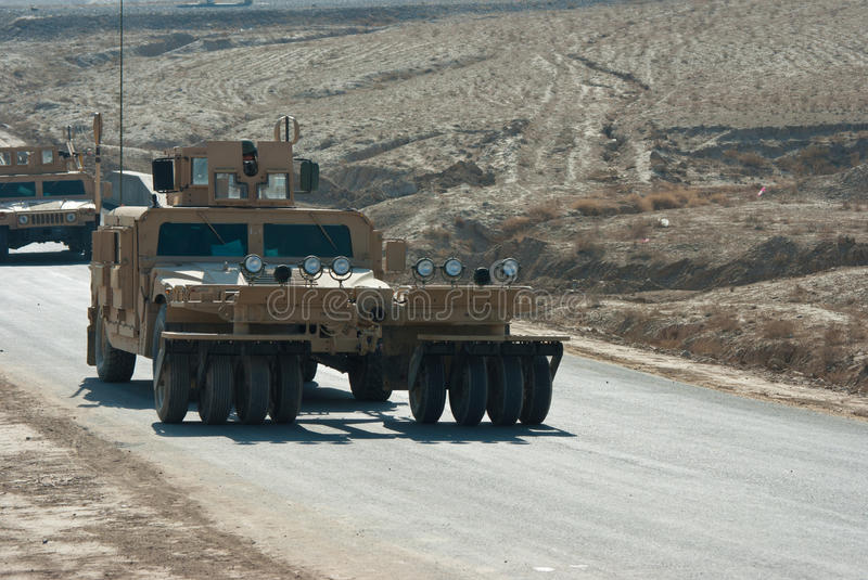 Download HMMWV Mine Roller stock image. Image of nato, controlled - 17875715