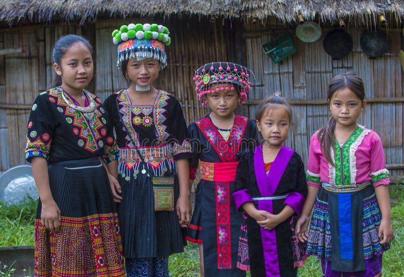 Hmong少数族裔在老挝 库存图片