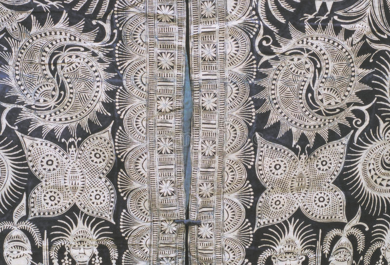 Hmong的蜡染布 免版税库存图片