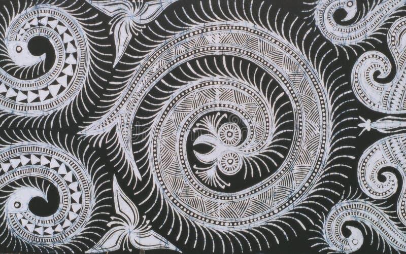 Hmong的蜡染布 库存图片