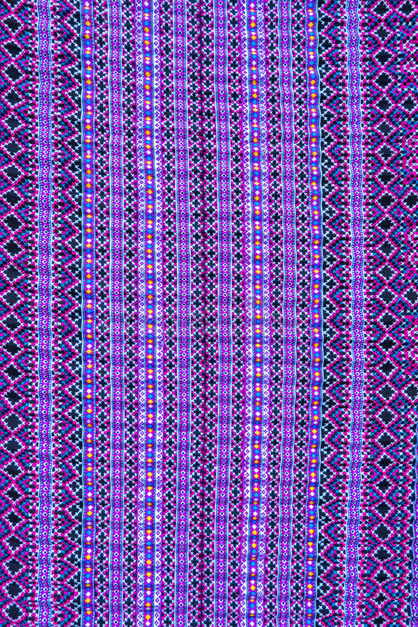 Hmong blankets textile. Thailand the Hmong blankets textile on the market royalty free stock photography