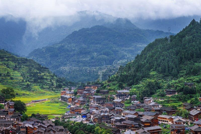 Hmong Dorf lizenzfreies stockbild