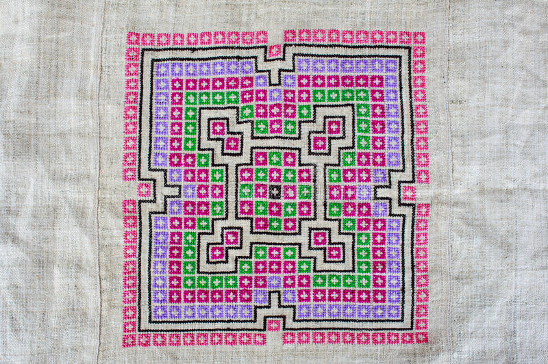 Hmong Embroidered Cloth Stock Photo Image Of Motley 60273728