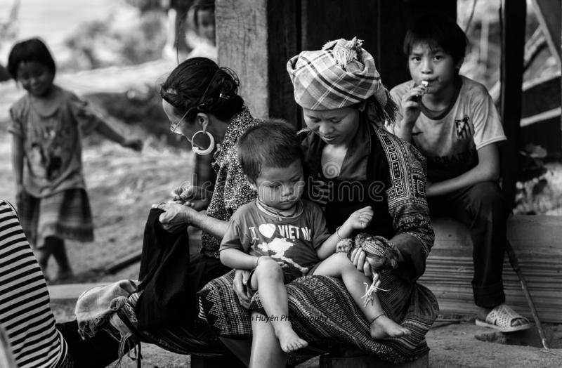 Hmong Etniczny - północny zachód Wietnam obrazy royalty free