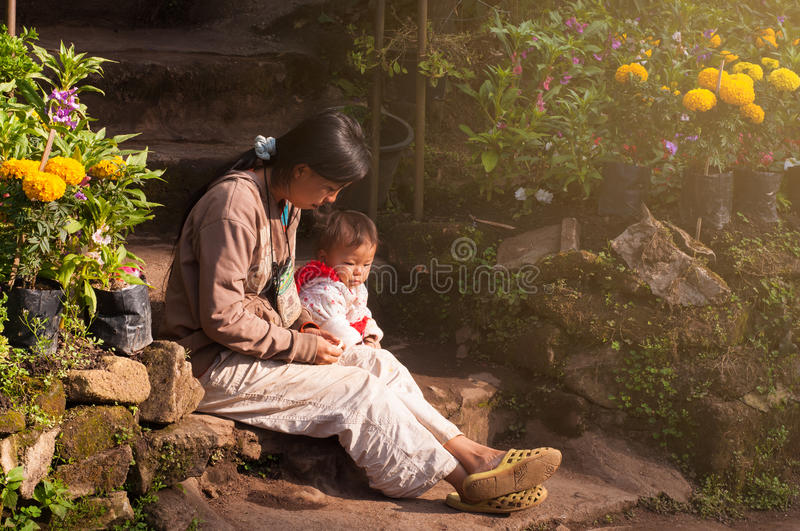 Hmong Family royalty free stock images