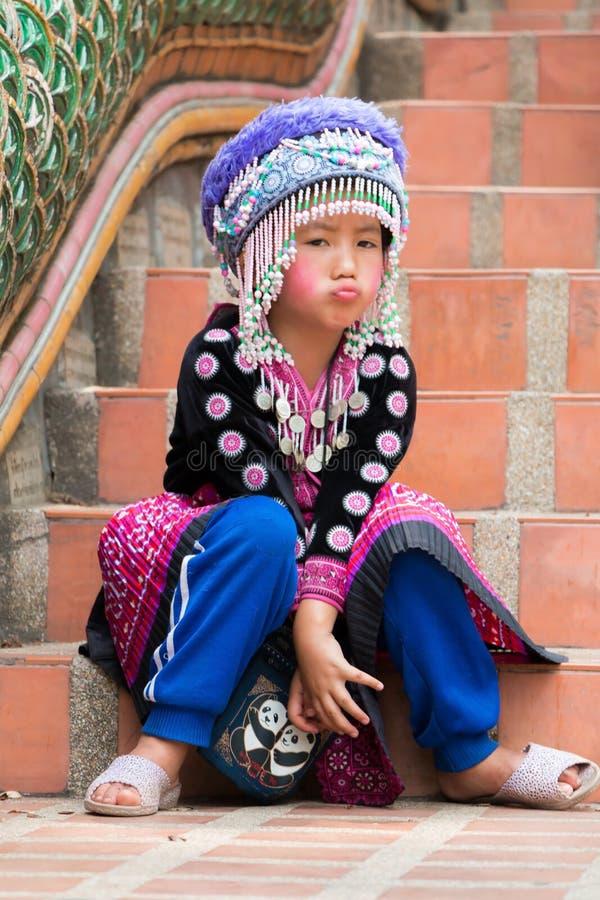 Hmong flicka royaltyfri fotografi