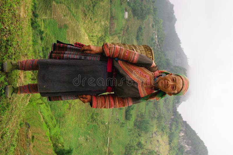 Download Hmong flowered Grandmother stock photo. Image of hill - 15456080