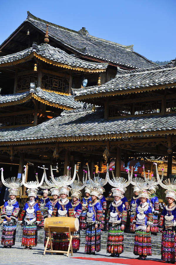 Download Hmong girls with drum editorial image. Image of china - 27458520