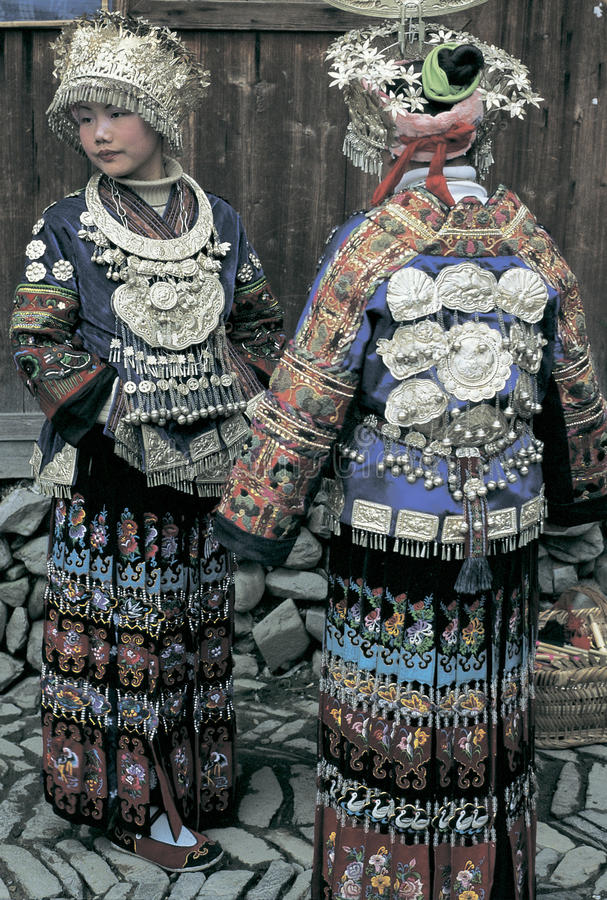 Hmong in southwest China stock images