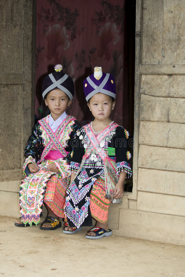 hmong Laos de fille photo libre de droits