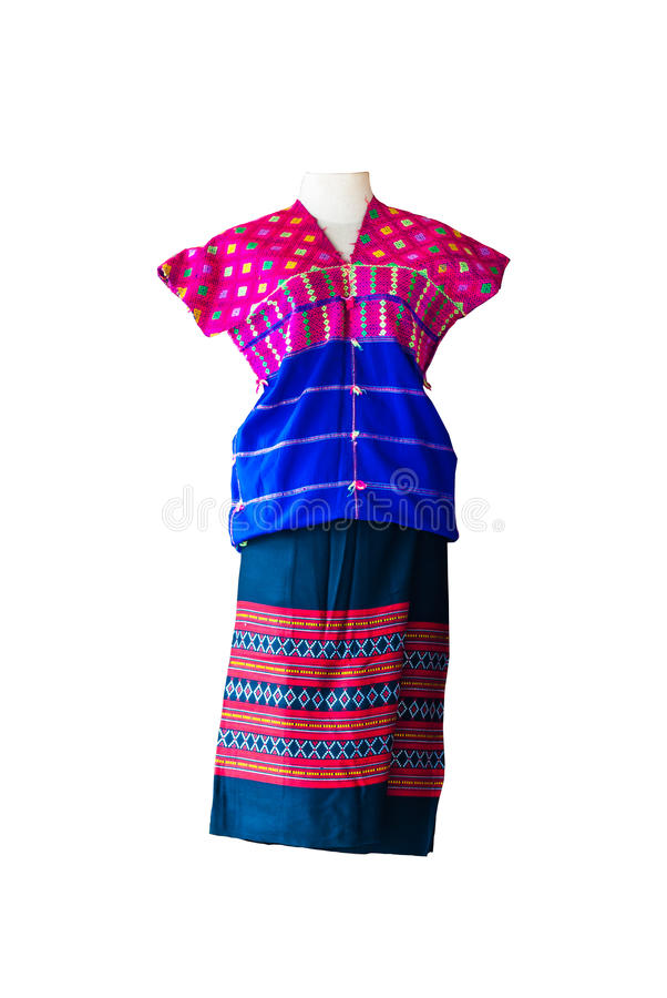 Hmong, Minority in Thailand, Hill Tribe suit, Isolated.  royalty free stock photography