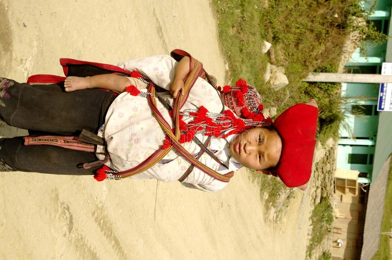 Download Hmong Red Sapa  Woman And Baby Editorial Stock Photo - Image: 14380473