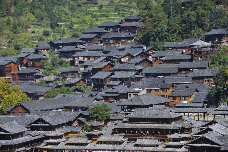 Hmong village. The Xijiang hmong village in Leishan county,Guizhou province of china stock photo