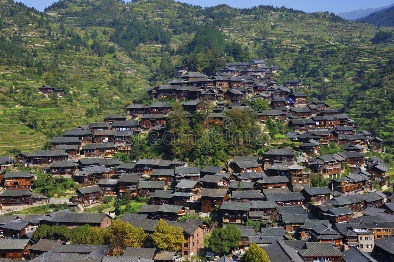 Hmong village. The Xijiang hmong village in Leishan county,Guizhou province of china stock images