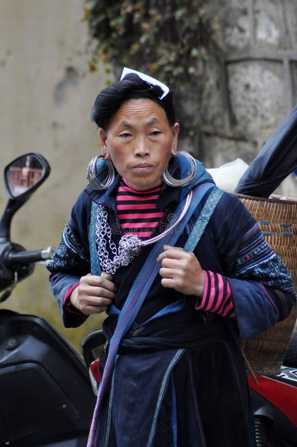 Hmong woman Chinese minority in Sapa, Vietnam royalty free stock photos