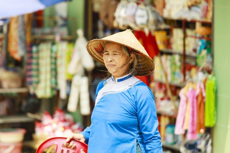 Hmong women at Bac Ha market in Northern Vietnam stock image
