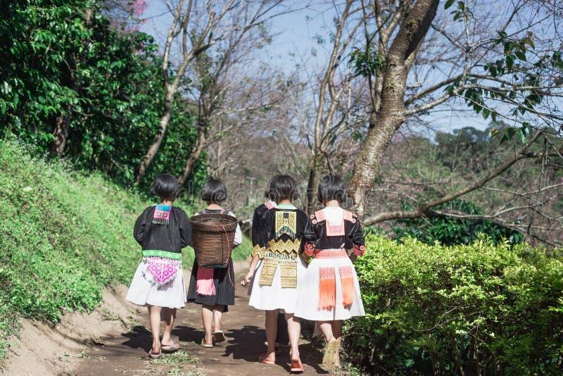 Hmong wzgórza plemienia dzieci obraz royalty free