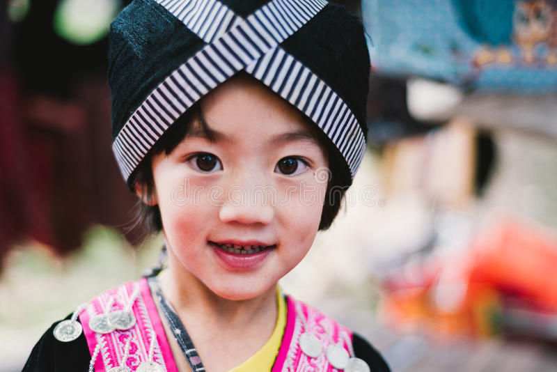 Hmong wzgórza plemienia dzieci fotografia royalty free