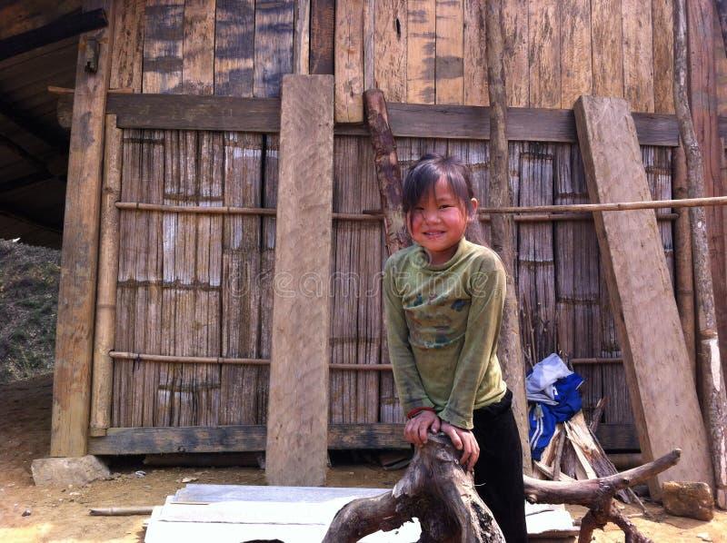 Hmongmeisje royalty-vrije stock foto