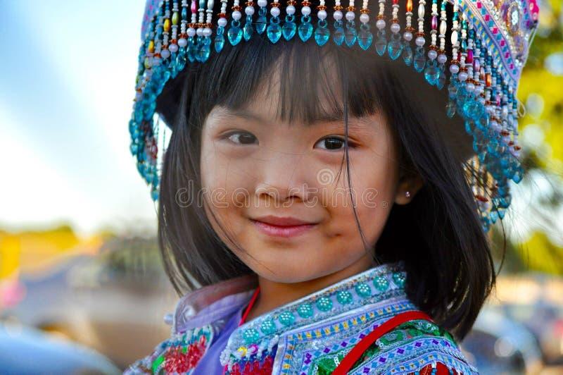 Hmongmeisje bij oogstfestival royalty-vrije stock foto