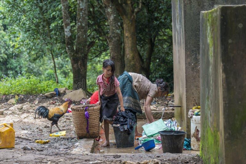 Hmongmensen, Laos stock afbeelding